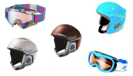 FOTO: Ochranné helmy a brýle na lyže