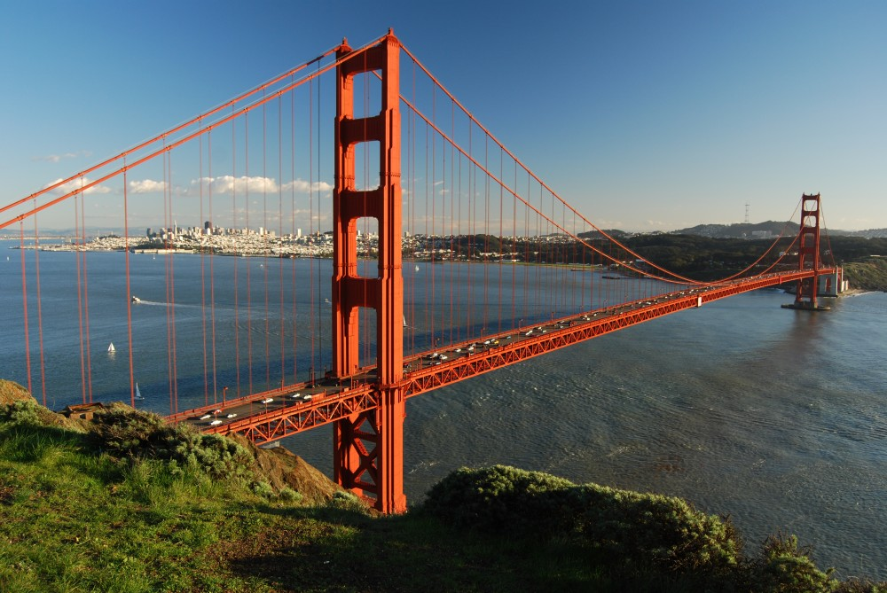 """Golden Gate Bridge v kalifornském San Franciscu"""