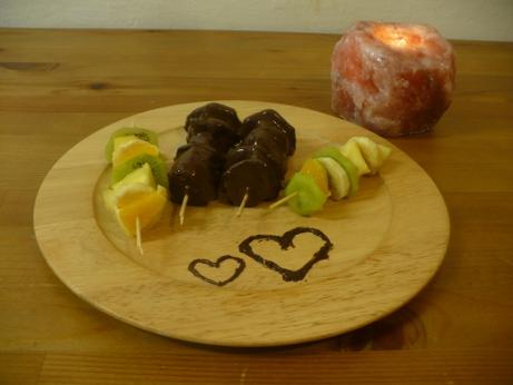 Ovocné špízy v čokoládě