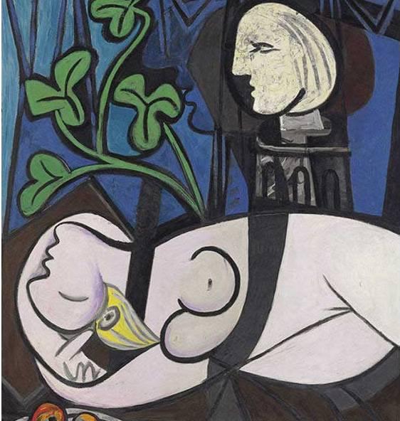 FOTO: Akt, zelené listy a poprsí, P. Picasso