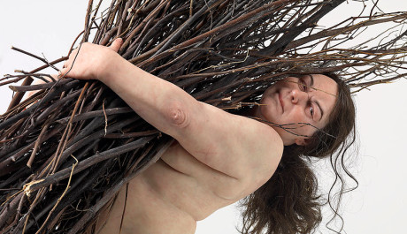 OBR: Ron Mueck Woman with sticks 2008