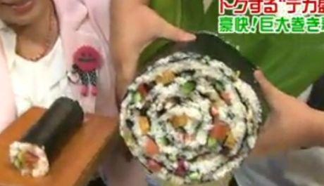 FOTO: Největší sushi na světě v japonské restauraci Umewaka