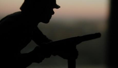 FOTO: Voják chrání svou zemi před ohrožením