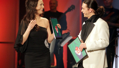 Foto: Moderátoři Galavečera Tereza Kostková a Ladislav Špiner