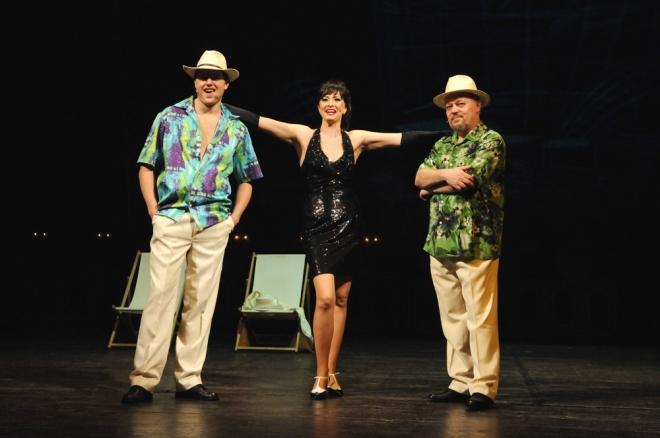 FOTO: Jan Kříž, Daniela Šinkorová a Jiří Untermüller v muzikálu Prodavači snů (DJTK, 2012)