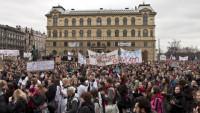 Demonstrace-priorita, Foto: Sandra Štefanikova, Topzine.cz