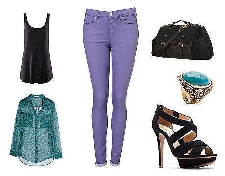 prstýnek (Mango), kabelka a kalhoty (Topshop), košile (Equipment