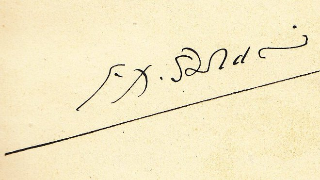 FOTO: Podpis F. X. Šaldy