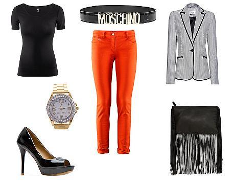FOTO: Oranžové kalhoty - outfit