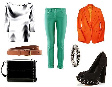 FOTO: Zelené kalhoty - outfit