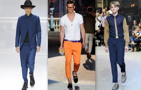 FOTO: Zkrácené kalhoty, pánské kolekce jaro 2012