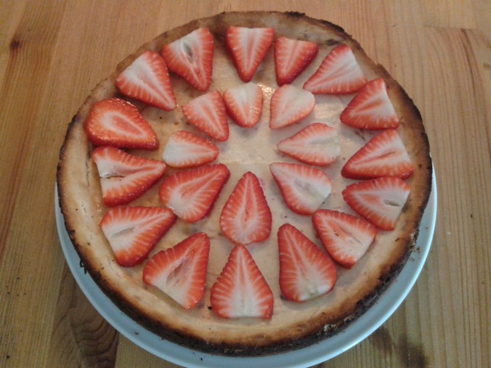 recept na Cheesecake s jahodami