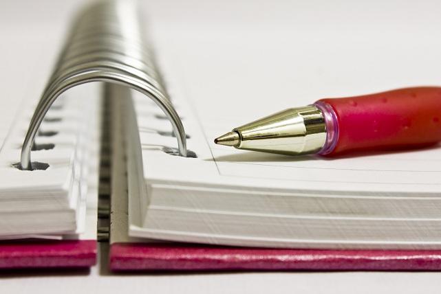 FOTO: Notebook wih spiral