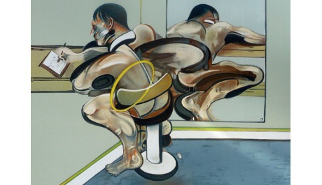 OBR: Francis Bacon, Figure Writing Reflected in Mirror, 1976