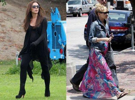 FOTO: Těhotná Victoria Beckham a Nicole Richie