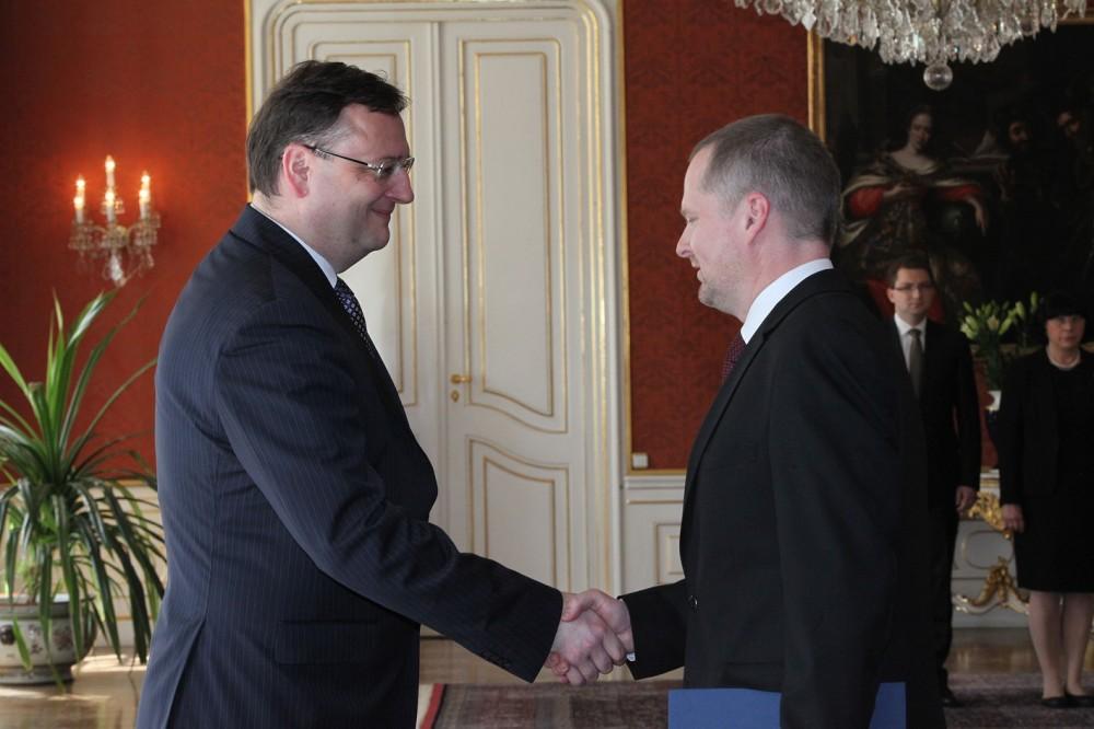 FOTO: Petr Fiala přebírá post ministra