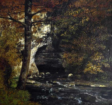 OBR: Gustave Courbet: Lesní sluj(V lese), NG