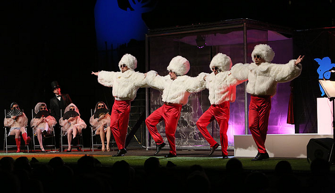 FOTO: Mužské titulní kvarteto a jejich ruské tance
