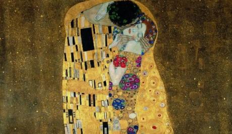OBR: Gustav Klimt - Polibek 1908