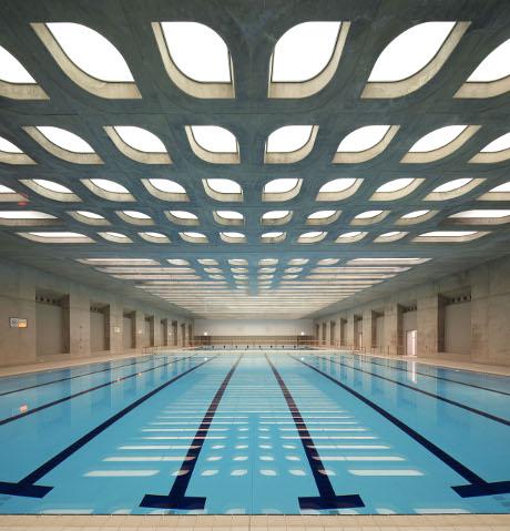 OBR: Rozehřívací bazén v londýnském Aquatic centre
