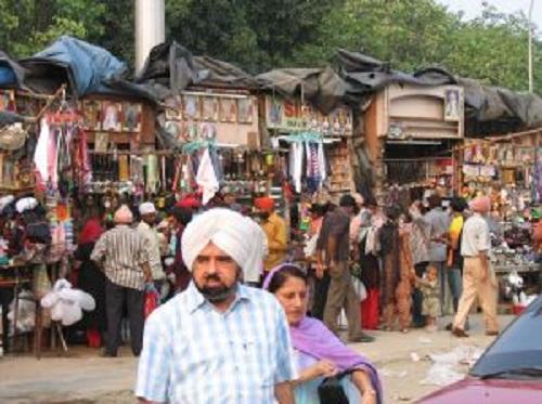 FOTO: Indie, Nové Dillí, trh Bangla Saahib