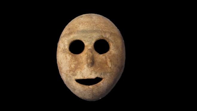 FOTO: Kamenná maska z Blízkého východu