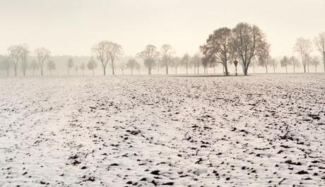 FOTO: Zasněžená zimní krajina.