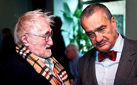 FOTO: Pavel Landovský a Karel Schwarzenberg