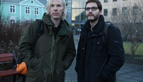 Benedict Cumberbatch a Daniel Brühl ve filmu The Fifth Estate. Zdroj: DreamWorks studio
