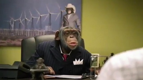 Šimpanz v reklamě Career Builder