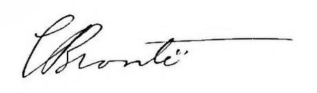 FOTO: Podpis Charlotte Brontëové, Zdroj: Wikimedia
