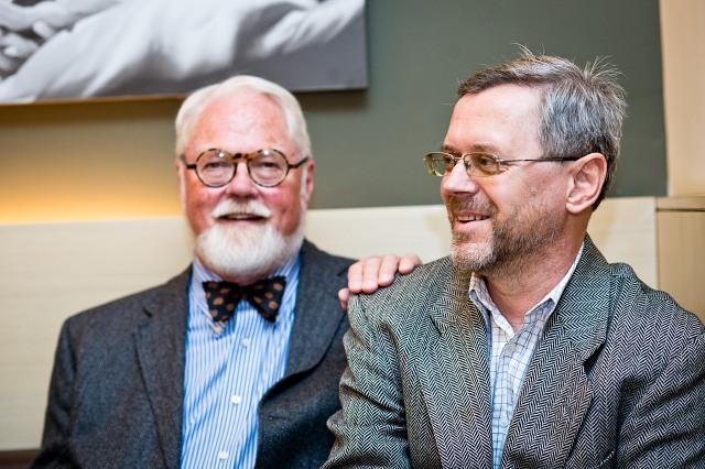 FOTO: Americký spisovatel Robert Fulghum s překladatelem Jiřím Hrubým