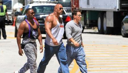 FOTO: Pain and Gain Anthony Mackie Dwayne Johnson Mark Wahlberg