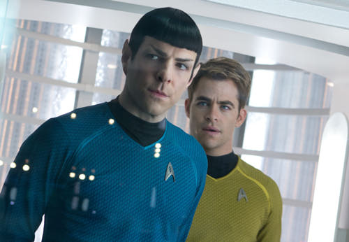 FOTO: Zachary Quinto Chris Pine Star Trek Into Darkness