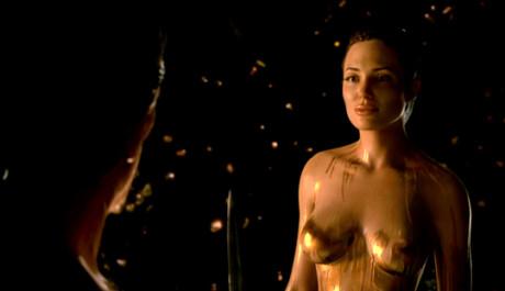 Angelina Jolie ve filmu Beowulf. Zdroj: distributor filmu
