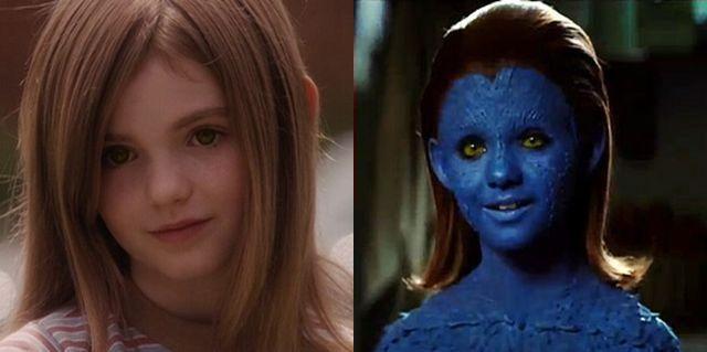 FOTO: Morgan Lily ve filmu Má mě rád, nemá mě rád a ve filmu X-Men: První třída