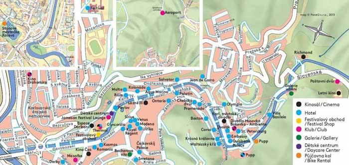 Foto: Mapa MFF Karlovy Vary