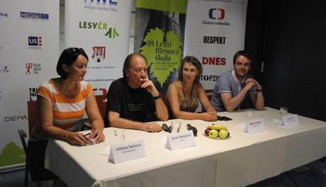Goran Paskaljević na tiskové konferenci Letní filmové školy. FOTO: Tereza Menclová, TOPZINE.cz