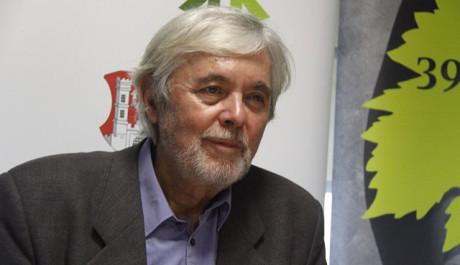 Josef Abrhám na tiskové konferenci ke snímku Hoteliér, FOTO: Tereza Menclová, TOPZINE.cz