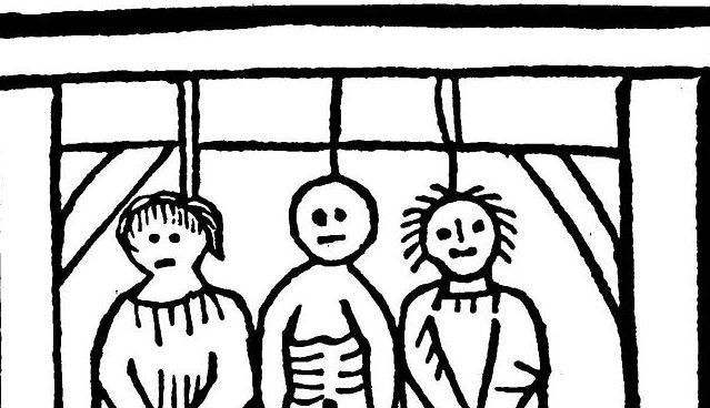 Oběšenci. Ilustrace k Závěti