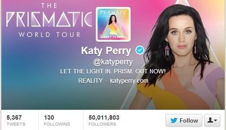 FOTO: Katy Perry má 50 milionů sledujících na Twitteru