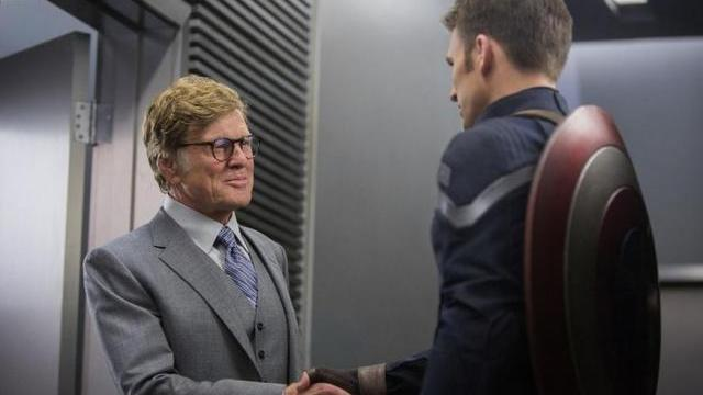 FOTO: Robert Redford Chris Evans Captain America Winter Soldier