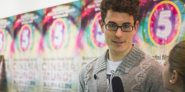 FOTO: Stepan Hulik na festivalu Cinema Mundi