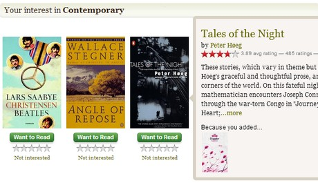 OBR: Goodreads recommendations