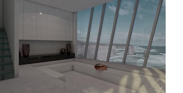 Dům na útesu - interiér, Zdroj: www.modscape.com.au