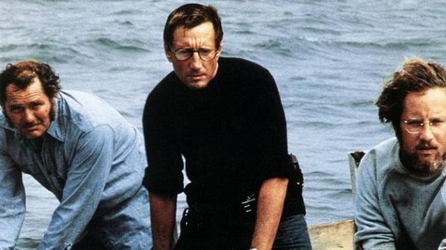 FOTO: Robert Shaw Roy Scheider Richard Dreyfuss Jaws