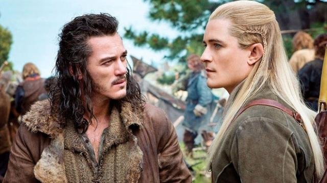 FOTO: Luke Evans Orlando Bloom Hobbit The Battle of the Five Armies
