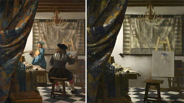 Espacios Ocultos - Alegorie malířství (Jan Vermeer), José Manuel Ballester, Zdroj: www.josemanuelballester.com