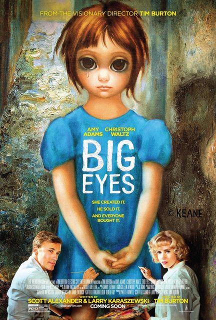 Plakát k filmu Big Eyes, Tim Burton, Zdroj: www.filmserver.cz