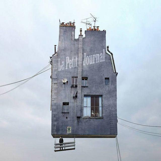 Laurent Chéhère, Létající domy, Zdroj: laurentchehere.com